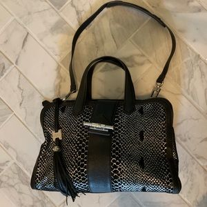 Aimee Kestenberg black Leather and silver Bag